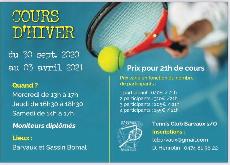 Cours hiver 2021